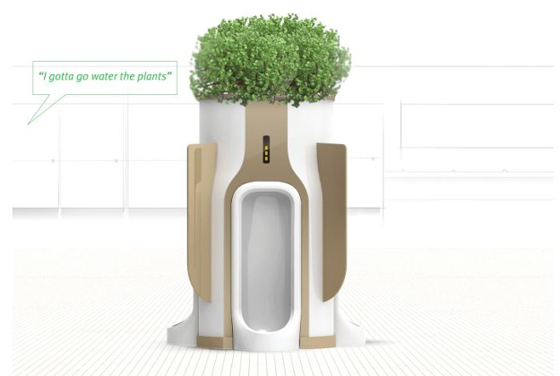 The model of what the public urinal fertilising system might look like