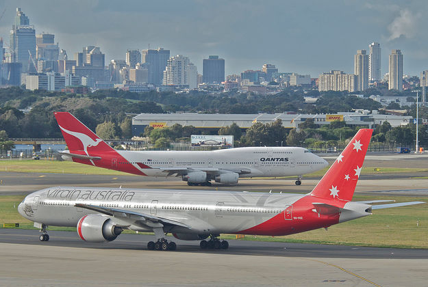 Virgin Australia in Sydney.