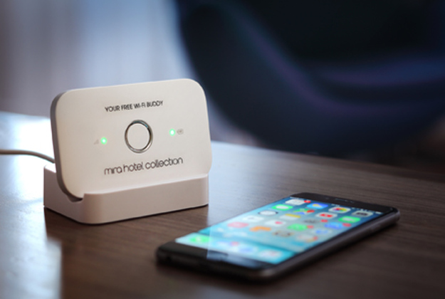 The Wi-Fi buddy provided by a Hong Kong hotel gives travellers a Wi-Fi hotspot wherever they go.