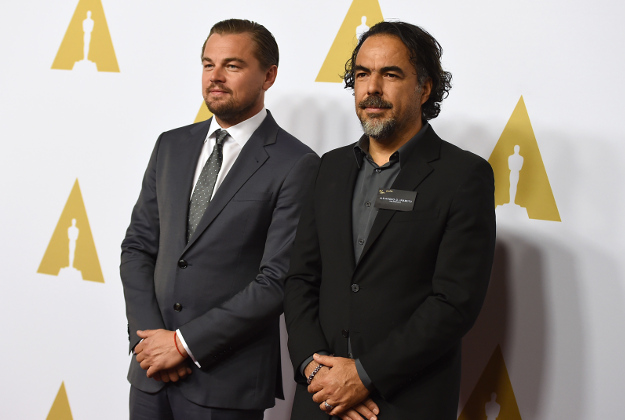 Leonardo DiCaprio, left, and Alejandro Inarritu arrive at the 88th Academy Awards Nominees Luncheon at The Beverly Hilton hotel on Monday, Feb. 8, 2016, in Beverly Hills, Calif.