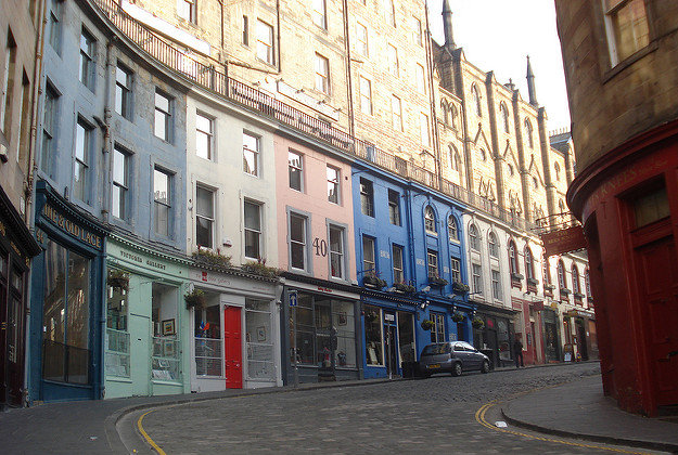 Edinburgh's old town to become art gallery.