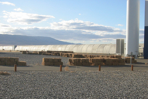 Part of the LIGO site in Hanford, Washington.