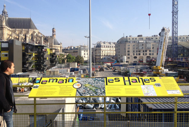 Construction work on Les Halles, Paris.
