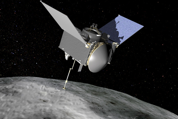 An artist's conception of OSIRIS-REx, which is scheduled to launch in September and travel to the asteroid Bennu