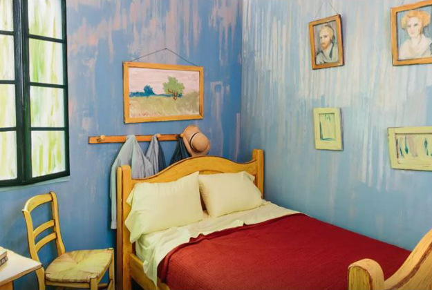 The Art Institute of Chicago has created the bedroom featured in Van Gogh's painting Bedroom in Arles and listed it on Airbnb.