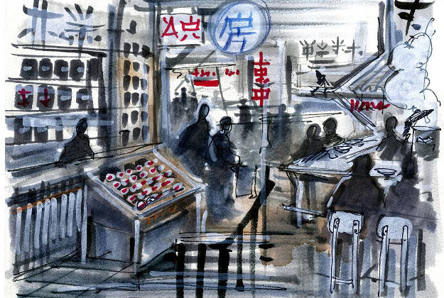 Caption: Artist rendering of a portion of the market • Stephen Alesch @romanandwilliams • #BourdainMarket
