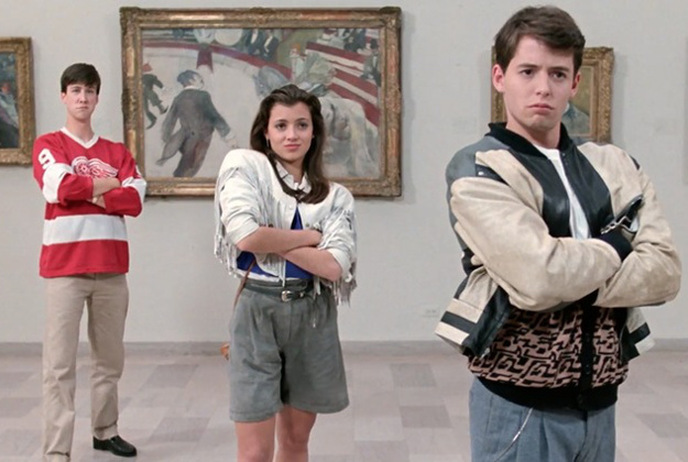 Cameron, Sloane and Ferris at the Chicago Institute of Art.