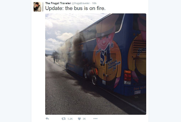 A New York Times reporter live-Tweeted a bus explosion.
