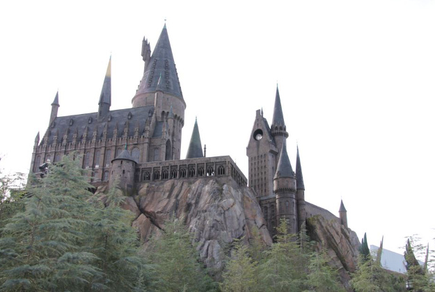Hogwarts school for wizards replicated at the Universal Studios park