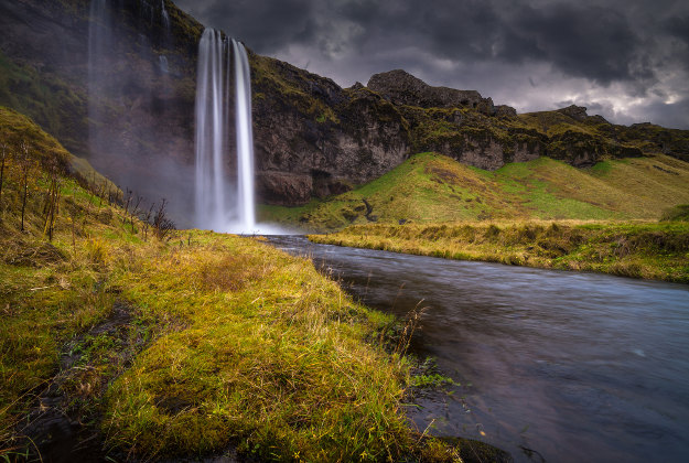 Seljalandsfoss waterfall is one of the country's most spectacular