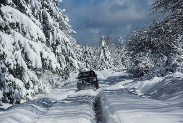 Snowy conditions in Northern Spain
