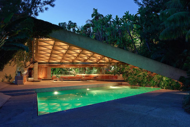 Investor James Goldstein has promised his John Lautner-designed home, its contents, and the surrounding estate to LACMA. [The James Goldstein House, designed by John Lautner, photo © Jeff Green]