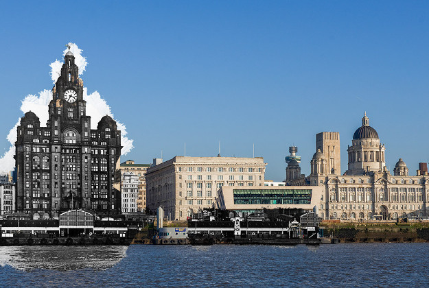 Composite images of Liverpool show how the city has changed over time.