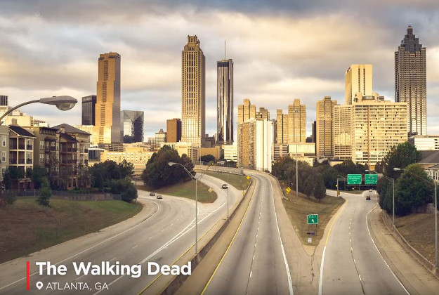 Atlanta whichis featured in The Walking Dead