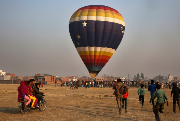The balloon festival in India