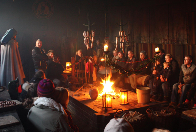 Winter at the Ribe Vikingcenter.