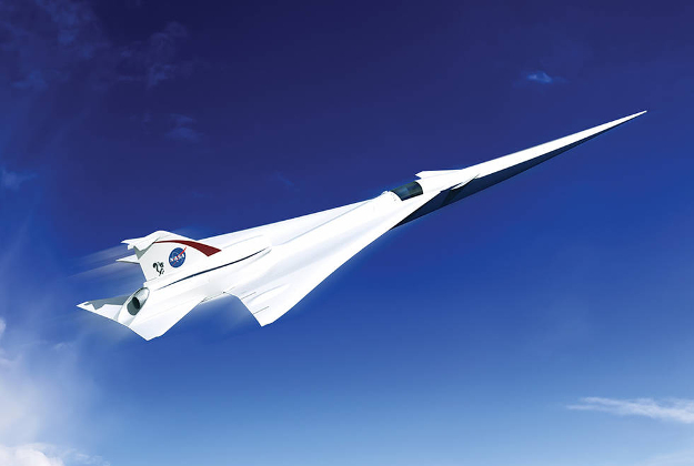 This is an artist's concept of a possible Low Boom Flight Demonstration Quiet Supersonic Transport (QueSST) X-plane design. The award of a preliminary design contract is the first step towards the possible return of supersonic passenger travel – but this time quieter and more affordable.