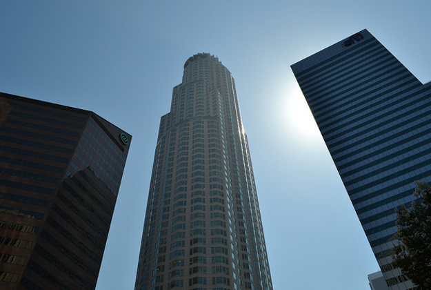 LA, tallest building, the U.S. Bank Tower.