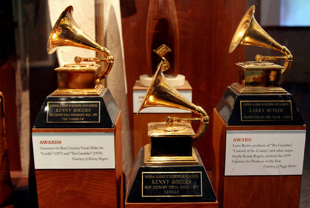 Grammy Statuettes, Music Hall of Fame, Nashville, Tennessee.