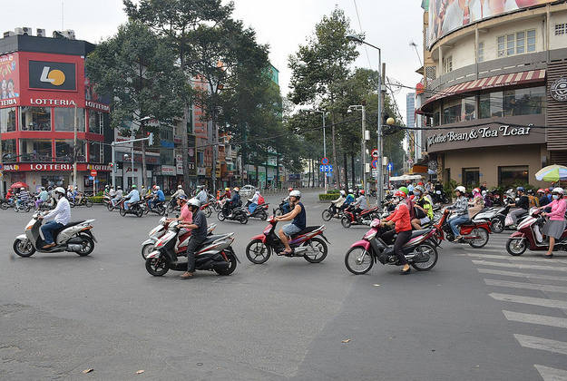 The busy streets of Ho Chi Minh City.