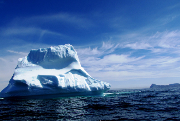 Iceberg which sank the titanic was a monster, originally 1,700ft long and weighing