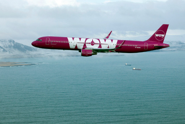 One of WOW air's Airbus 330-300 aircraft.