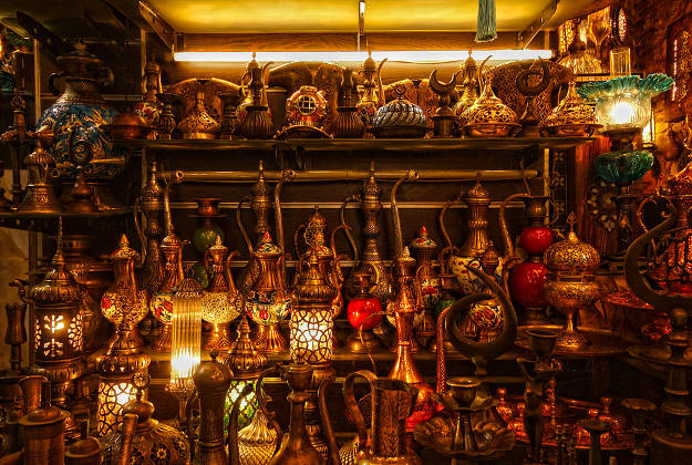 Detail of a shop at the Grand Bazaar