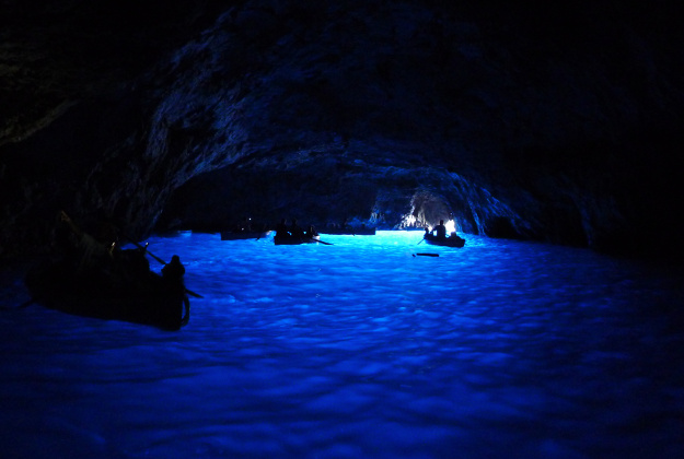 The Blue Grotto in Italy.