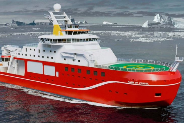 Artist impression of new state of the art research ship