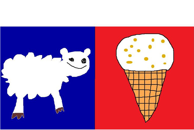 Sheep and Hokey Pokey Designed by: Jesse Gibbs from Canterbury This design represents all of NZ because we have lots of sheep and love hokey pokey ice cream. I even included the blue and red to keep all of you naysayers happy. Kiwi as bro.