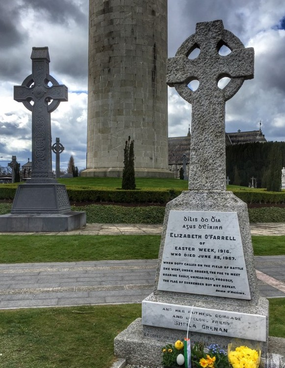 The cemetery is resting place to many who fought in the rebellion