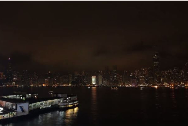 Lights go out in Hong Kong for Earth Hour.