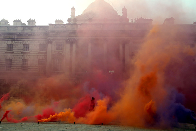 Filippo Minelli's work in the Somerset House courtyard