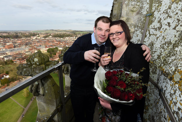 Louise Small proposed to her boyfriend of 14 years according to the Leap Year tradition