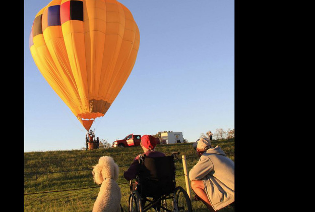 Norma gets her wish to fly in a hot air balloon