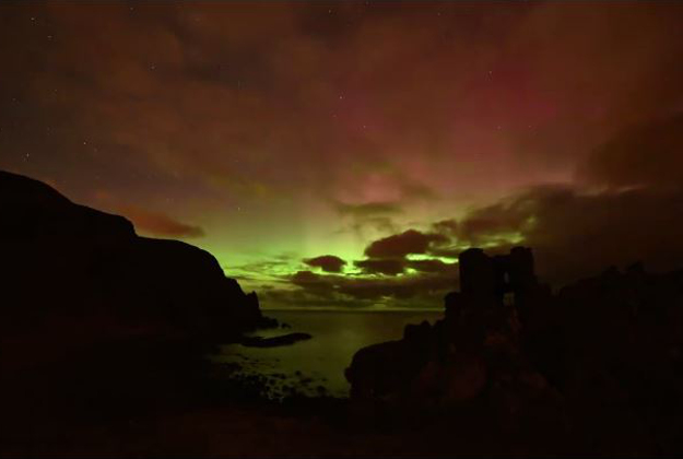 The Northern Lights were visible over Northern Ireland and the UK on Sunday night.