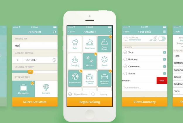 Packpoint is a precise packing list for travel pros