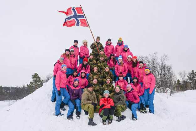 British Servicewomen in the Arctic circle of Norway training for their 2017 expedition