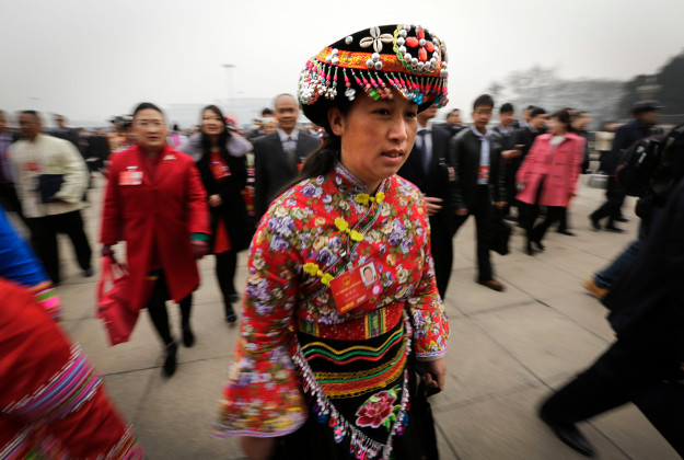 Delegates going to the China's National People's Congress