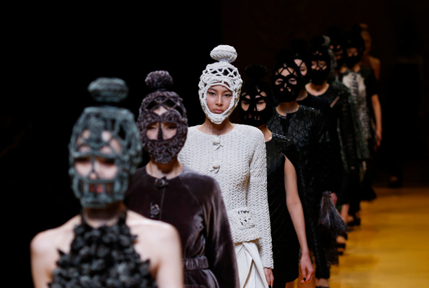Models display creations designed by Vietnam's Nguyen Cong Tri