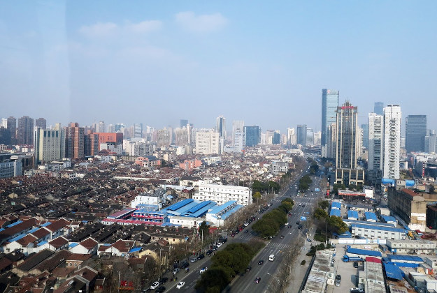 The ride offers views of old and new Shanghai