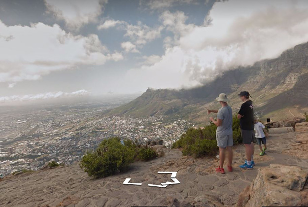 The view from Lion's Head as seen from Google Streetview.