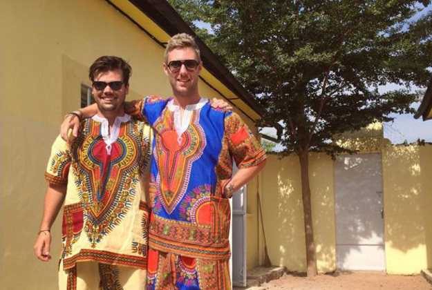 Johnny and friend in Senegal