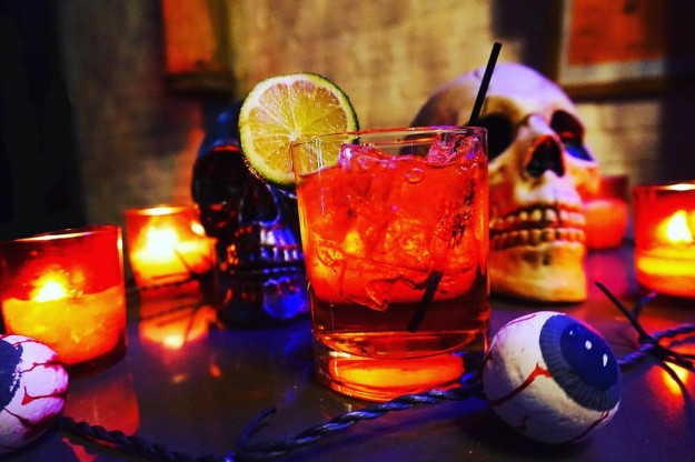 This is Halloween cocktail.