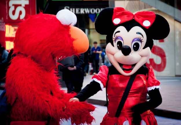 Minnie and Elmo are just two costumed characters regularly seen on Times Square.