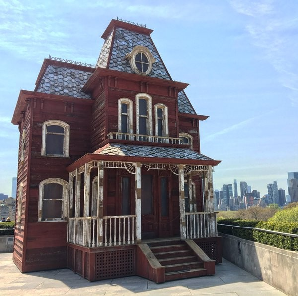'Transitional Object: PsychoBarn' on the roof of the roof of New York's Metropolitan Museum of Art.
