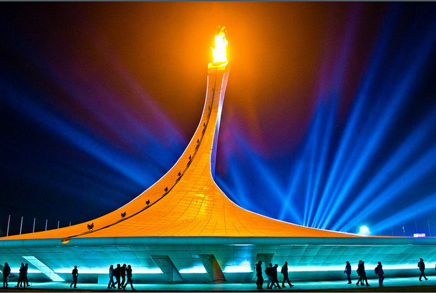 The Olympic Flame in Sochi 2014.