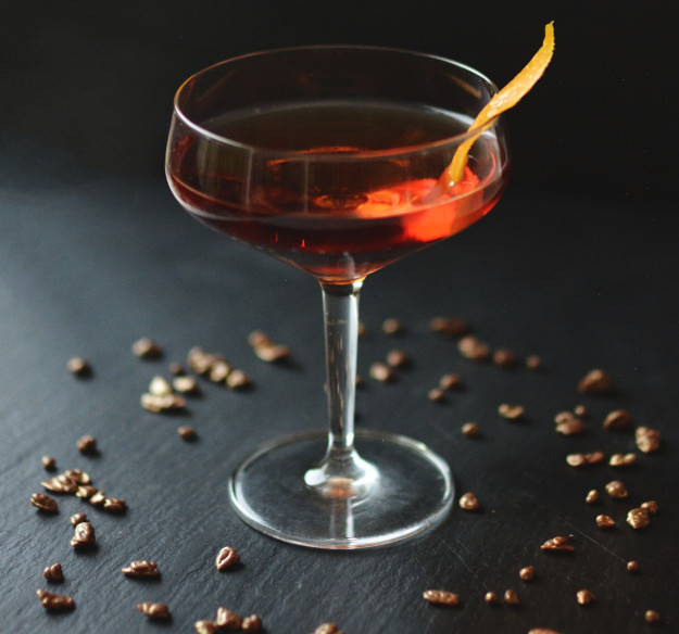 The Cocktail Bar's Queen's Prerogative Cocktail in honor of her birthday celebrations.