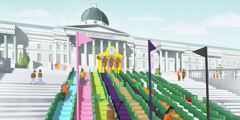 Trafalgar East Australia  City pictures : Plans to set up crazy golf course in Trafalgar Square