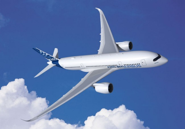The Airbus A350 has a sleek design. Image: Airbus